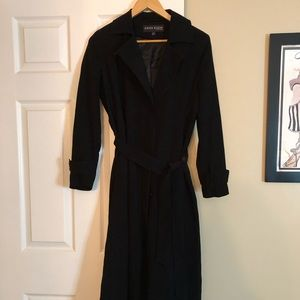 Anne Klein Long Belted Trench Coat - Size 1P